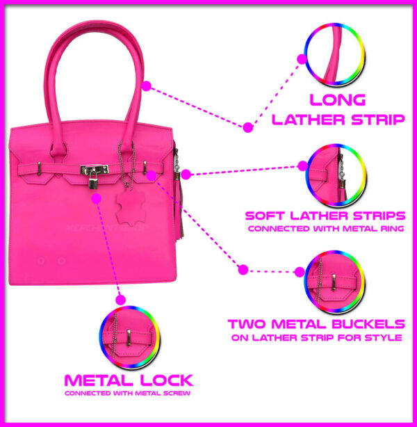 Pink-ladies-bag-front-side-features