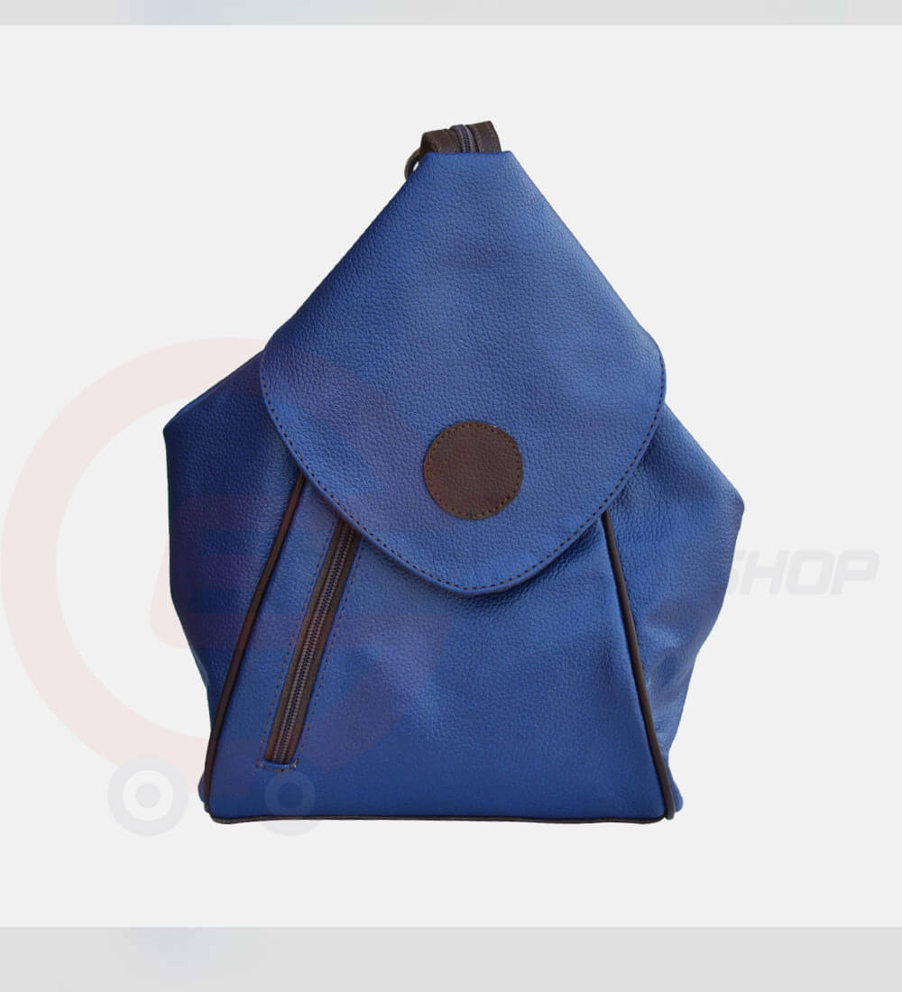 Student-Leather-Backpack-Blue