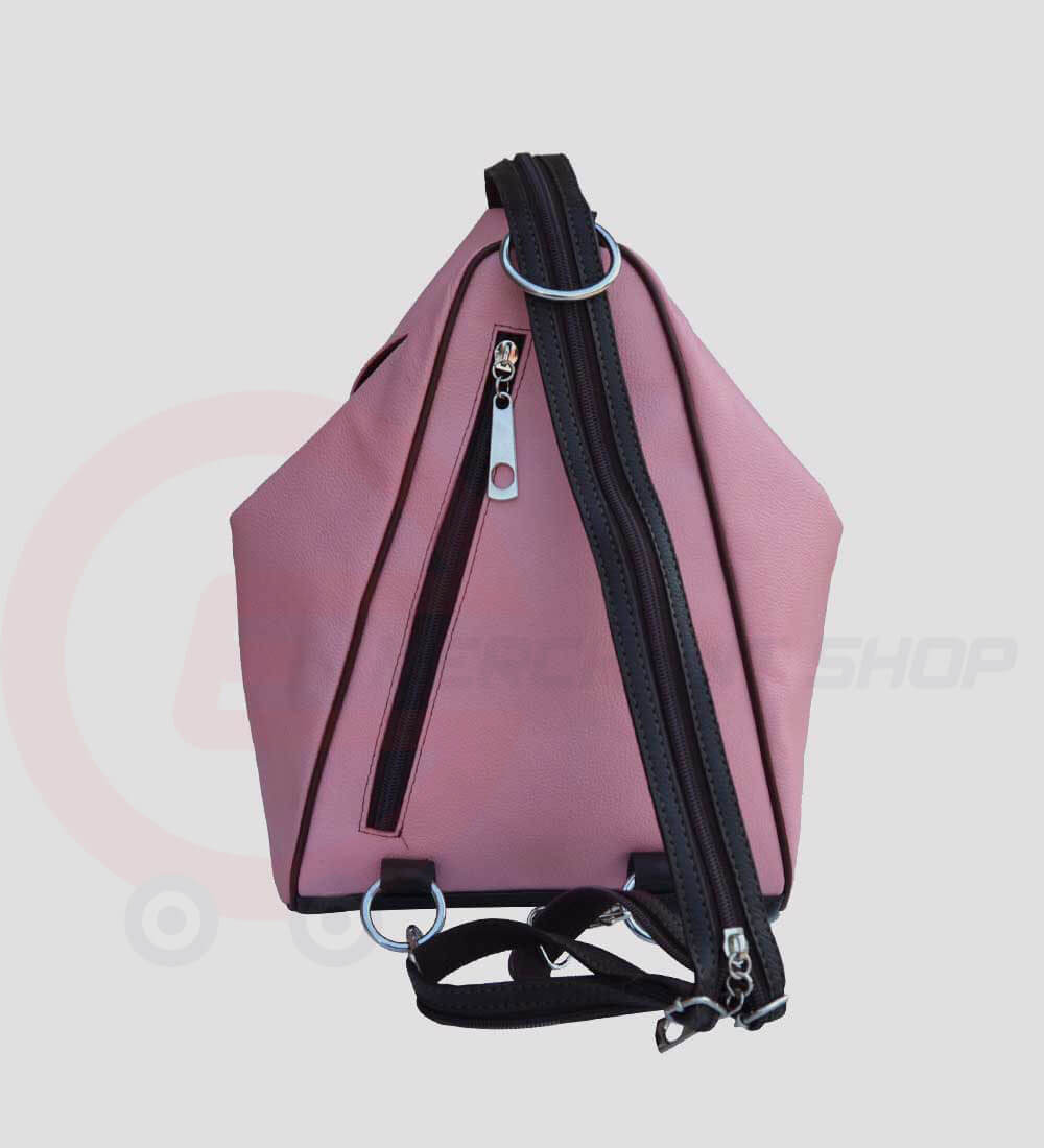 Student-Leather-Backpack-Pink-Back