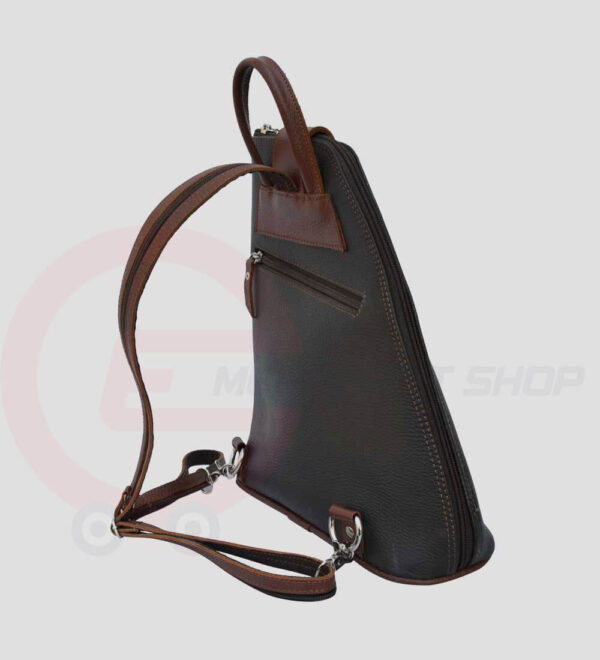 Women-Leather-student-Backpack-right-view