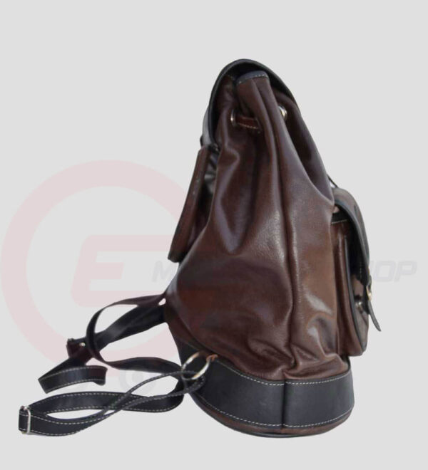 Womens Leather Travel Backpack Side